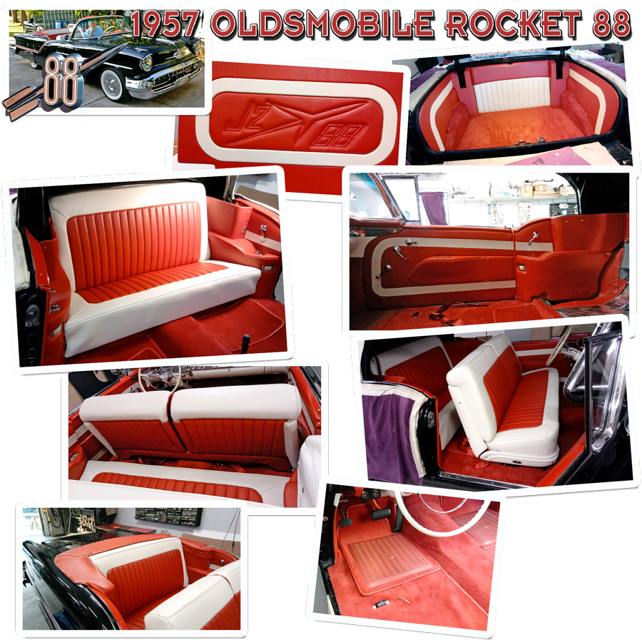 Schrecks Custom Upholstery 1957 Olds Rocket 88