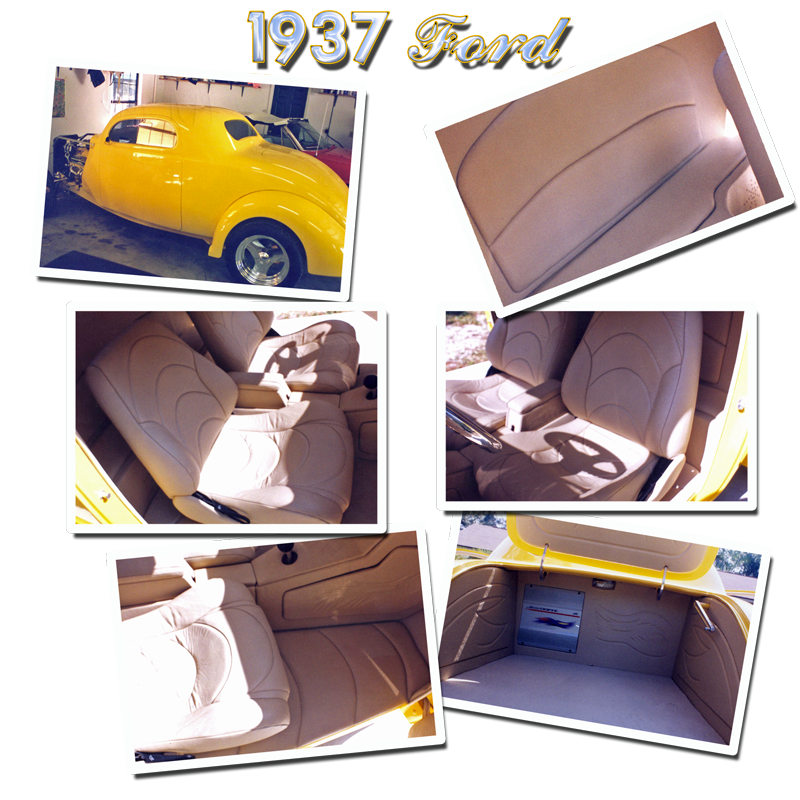 Schrecks Upholstery yellow 37 ford